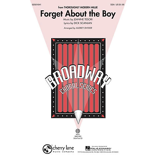 Hal Leonard Forget About the Boy (from Thoroughly Modern Millie) ShowTrax CD Arranged by Audrey Snyder