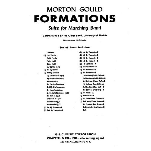G. Schirmer Formations (Score and Parts) Concert Band Composed by Morton Gould
