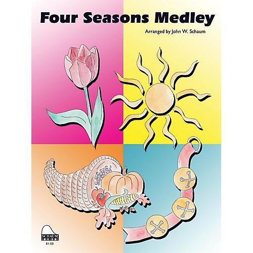 SCHAUM Four Seasons Medley Educational Piano Series Softcover