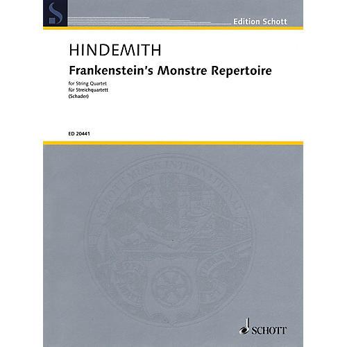 Schott Music Frankenstein's Monstre Repertoire (String Quartet Score and Parts) String Series
