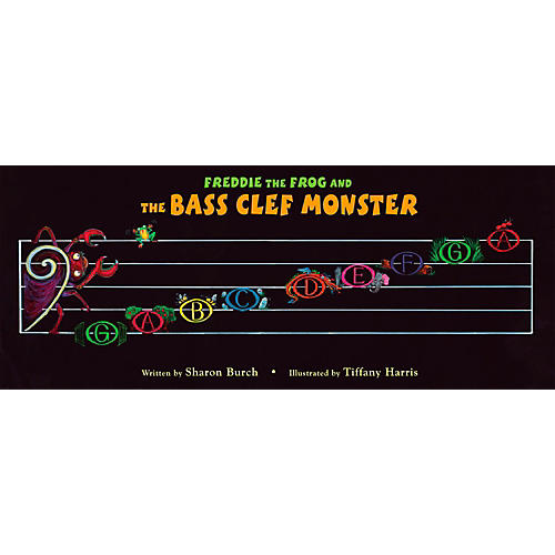 Hal Leonard Freddie The Frog And The Bass Clef Monster Poster