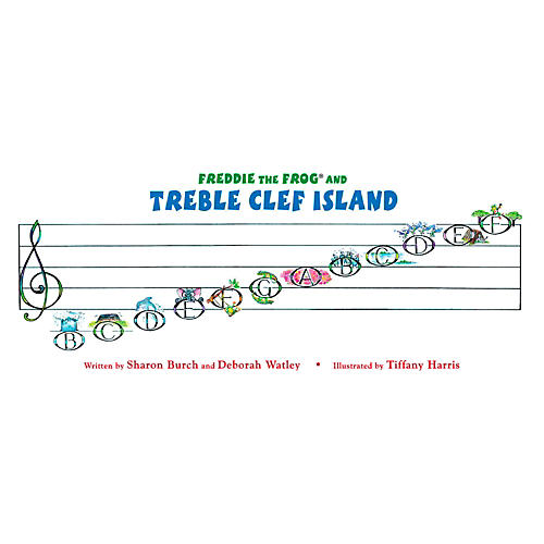 Hal Leonard Freddie The Frog And The Treble Clef Island Poster