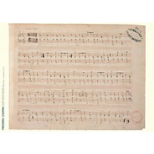 Axe Heaven Frederic Chopin Music Manuscript Poster - Ballade in F Major, Op. 38 for piano
