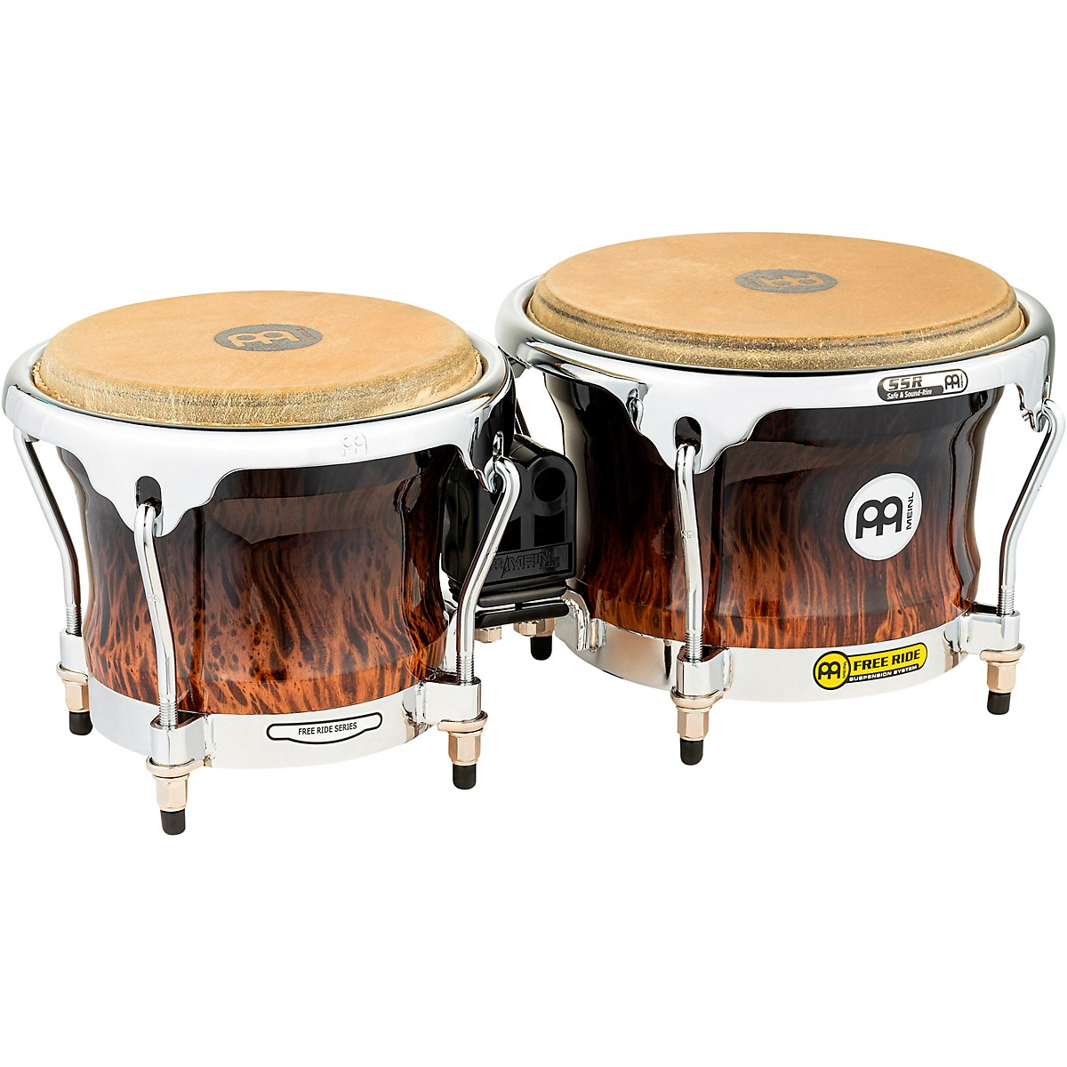 Meinl Free Ride Series High Gloss Wood Bongos
