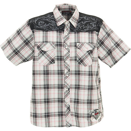 Rock House Los Angeles Freedom Eagle Short Sleeve Buttoned Shirt