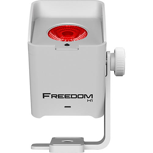CHAUVET DJ Freedom H1 RGBAW+UV LED X4 Wireless Wash Lighting System with D-Fi, White