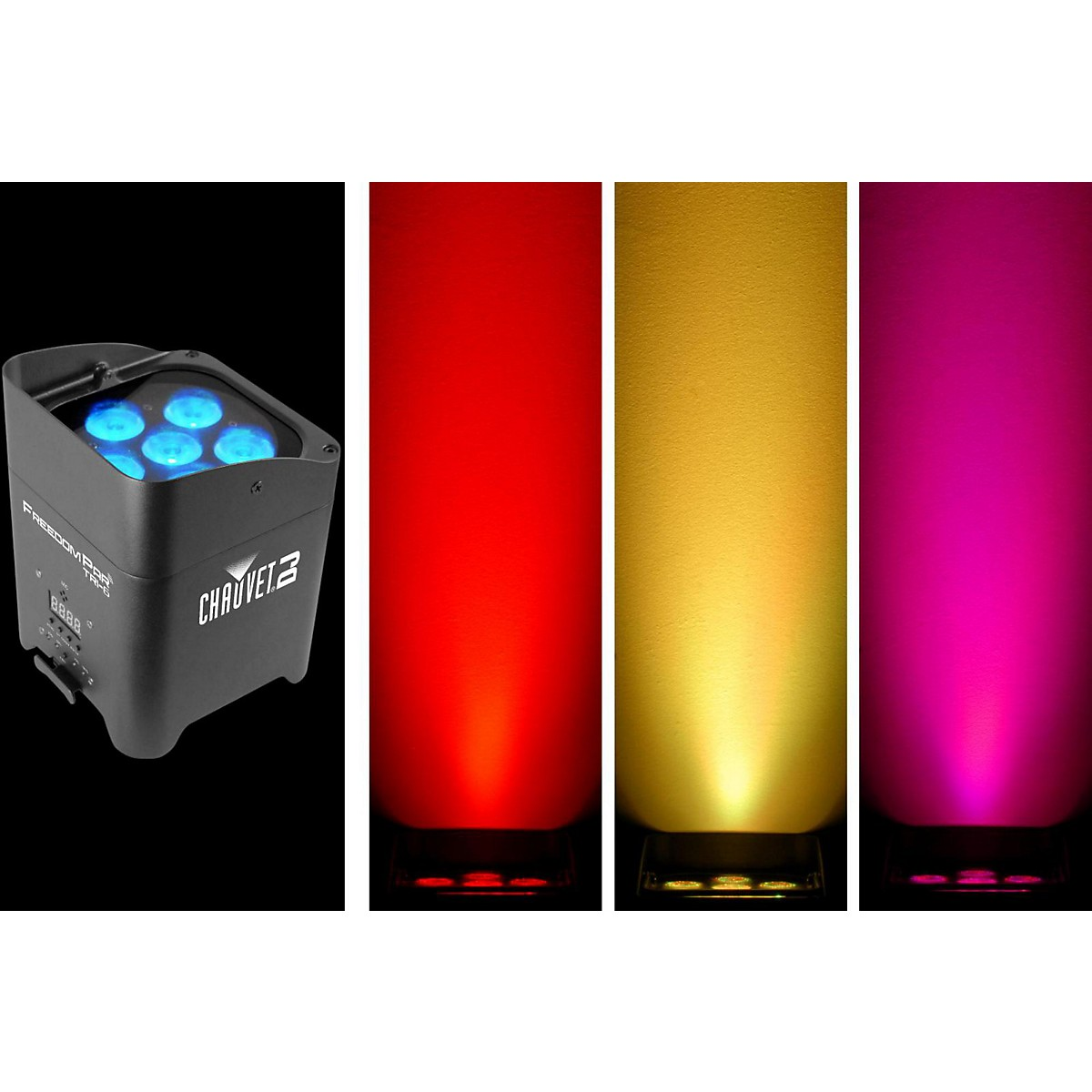 CHAUVET DJ Freedom Par Tri-6 Battery-Operated RGB LED Wash Light