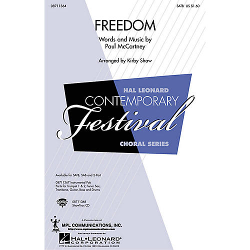 Hal Leonard Freedom ShowTrax CD Arranged by Kirby Shaw