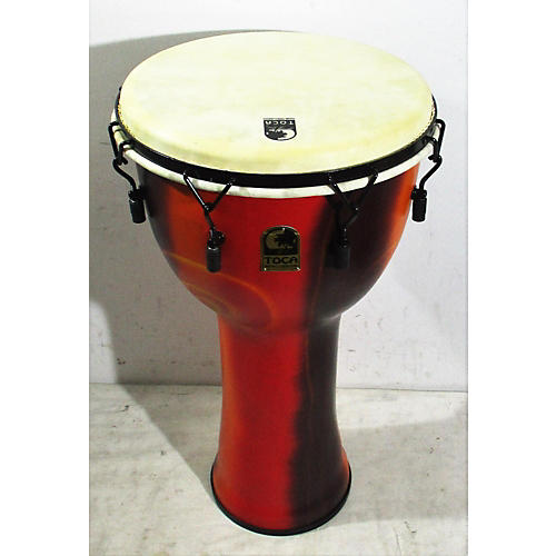 Toca Freestlyle Mechanically Tuned Djembe With Extended Rim 14 In. Fiesta Djembe