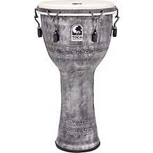 Freestyle Antique-Finish Djembe 12 in. Silver