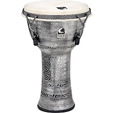 Freestyle Antique-Finish Djembe 9 in. Silver