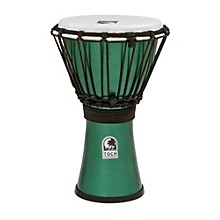 Freestyle ColorSound Djembe Metallic Green 7 in.
