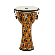 Freestyle Djembe - Kente Cloth Mechanically Tuned 10 in.