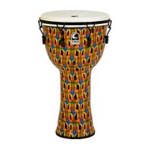Freestyle Djembe - Kente Cloth Mechanically Tuned 14 in.