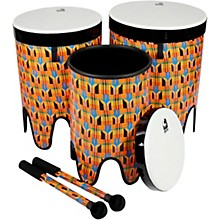 Freestyle II Nesting Tom-Tom Drums With Mallets 12 in., 14 in., 16 in. Kente Cloth