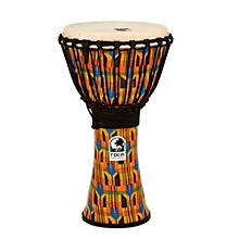 Freestyle Kente Cloth Rope Tuned Djembe 10 in.