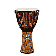 Freestyle Kente Cloth Rope Tuned Djembe 12 in.