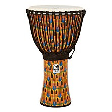 Freestyle Kente Cloth Rope Tuned Djembe 14 in.