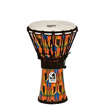 Freestyle Kente Cloth Rope Tuned Djembe 7 in.