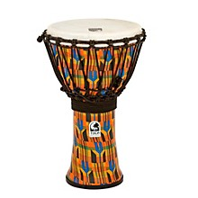 Freestyle Kente Cloth Rope Tuned Djembe 9 in.