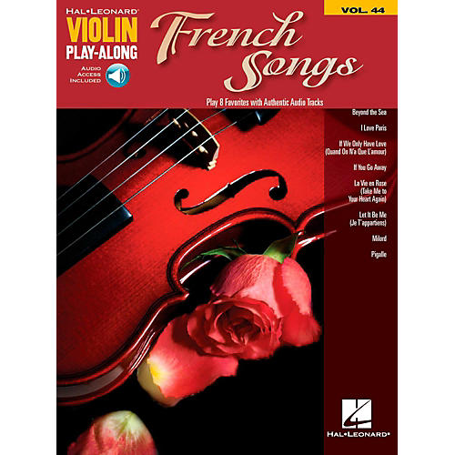Hal Leonard French Songs Violin Play-Along Volume 44 Book w/ Online Audio