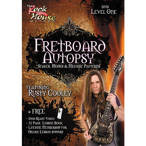 Rock House Fretboard Autopsy - Scales, Modes & Melodic Patterns, Level 1 Featuring Rusty Cooley DVD