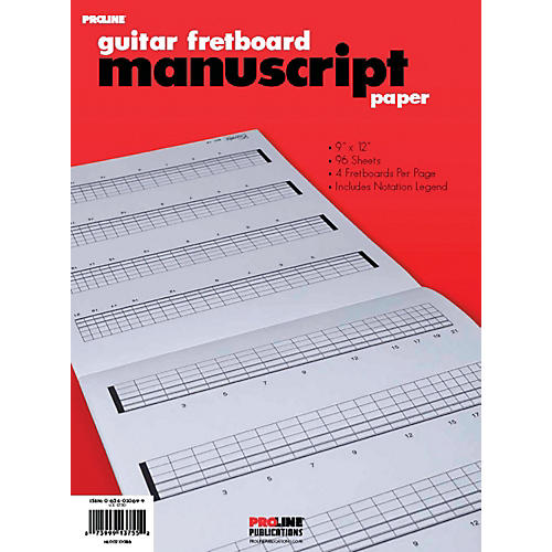Proline Fretboard Manuscript Paper