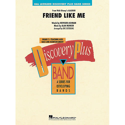 Hal Leonard Friend Like Me (from Aladdin) Concert Band Level 1.5 Arranged by Eric Osterling