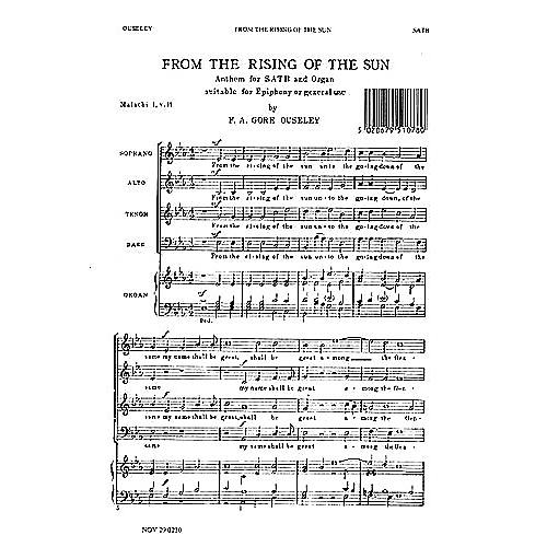 Novello From the Rising of the Sun SATB