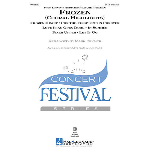 Hal Leonard Frozen (Choral Highlights) ShowTrax CD Arranged by Mark Brymer