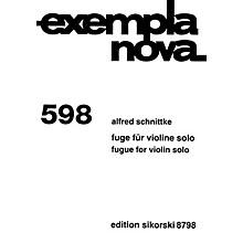 Sikorski Fugue for Violin Solo (Exempla Nova 598) Special Import Series Softcover