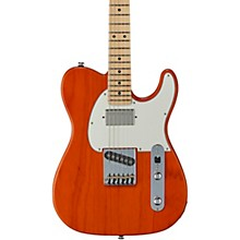 Fullerton Deluxe ASAT Classic Bluesboy Maple Fingerboard Electric Guitar Clear Orange