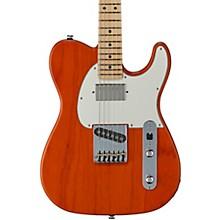 Fullerton Deluxe ASAT Classic Maple Fingerboard Electric Guitar Clear Orange