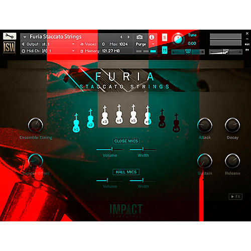 Impact Soundworks Furia Staccato Strings (Download)