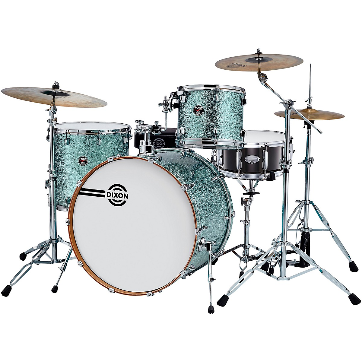 Dixon Fuse Gregg Bissonette Profile Maple 4-Piece Shell Pack with Signature Snare Drum