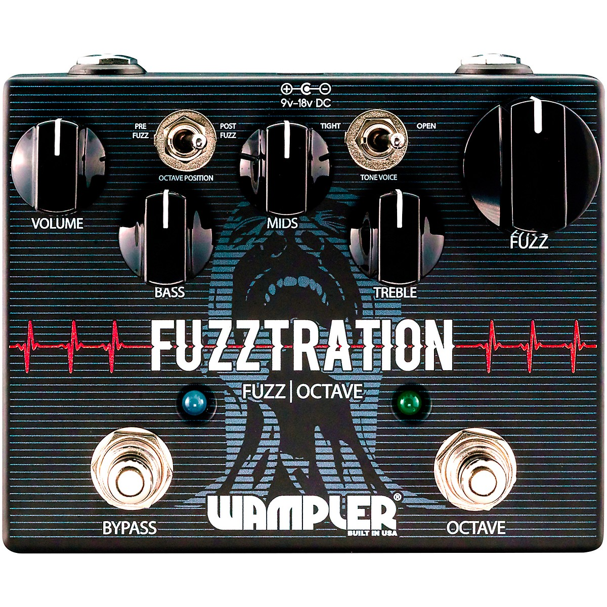 Wampler Fuzztration Fuzz Octave Guitar Effects Pedal