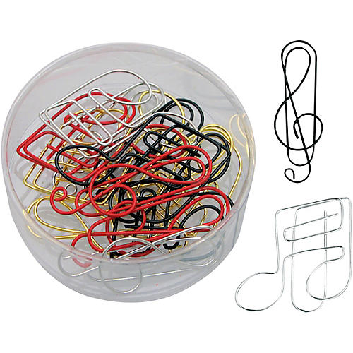 AIM G-Clef And Note Assorted Color Paper Clips