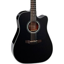 Takamine G Series GD30CE Dreadnought Cutaway Acoustic-Electric Guitar Level 1 Gloss Black