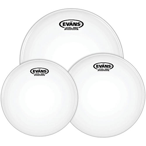 evans g12 coated white 10 12 16 rock drum head pack guitar center. Black Bedroom Furniture Sets. Home Design Ideas