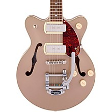 G2655T-P90 Streamliner Center Block Jr. Double-Cut P90 with Bigsby Two-Tone Sahara Metallic and Vintage Mahogany Stain