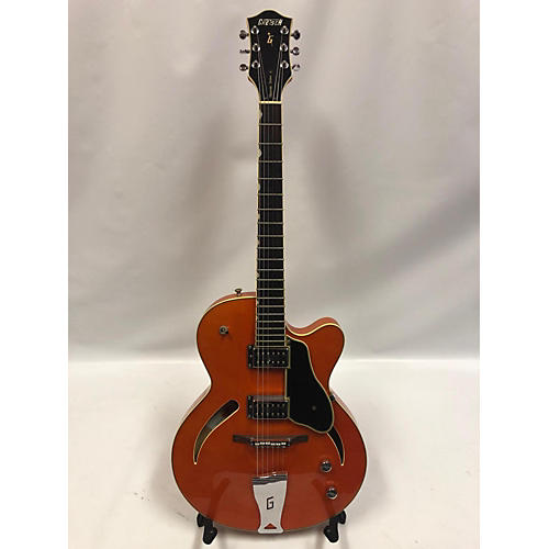 used gretsch guitars g3161 hollow body electric guitar orange guitar center. Black Bedroom Furniture Sets. Home Design Ideas