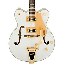 Gretsch Guitars G5422TG Electromatic Double Cutaway Hollowbody Electric Guitar Level 1 Snow Crest White