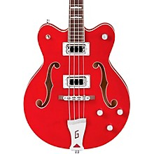 G5442BDC Electromatic Short Scale Hollowbody Bass Level 2 Transparent Red 190839612380