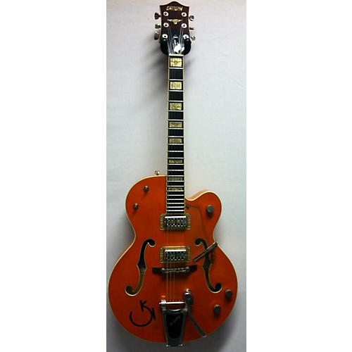 used gretsch guitars g6120rhh reverend horton heat signature hollow body electric guitar orange. Black Bedroom Furniture Sets. Home Design Ideas