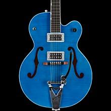 G6120SH Brian Setzer Hot Rod Flame Maple Body Semi-Hollow Electric Guitar Harbor Blue 2-Tone