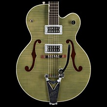 G6120SH Brian Setzer Hot Rod Flame Maple Body Semi-Hollow Electric Guitar Highland Green 2-Tone