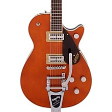 G6128T-PE Players Edition Duo Jet Black with Bigsby Electric Guitar Round-Up Orange