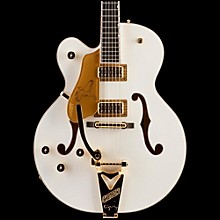 Gretsch Guitars G6136T White Falcon Left-Handed Hollowbody with Bigsby Electric Guitar White