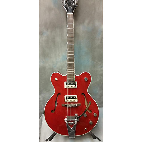 used gretsch guitars g6137tcb hollow body electric guitar crimson guitar center. Black Bedroom Furniture Sets. Home Design Ideas