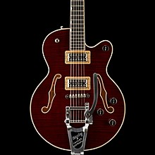 Gretsch Guitars G6659TFM Players Edition Broadkaster Jr. Center Block Single-Cut with String-Thru Bigsby and Flame Maple Dark Cherry Stain